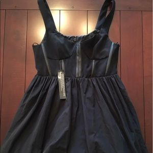 NWT Topshop | Black Corset Dress